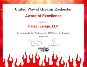 United Way of Greater Rochester: Award of Excellence