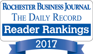 Best Personal Injury Firm and Best Malpractice Firm by the Rochester Business Journal and The Daily Record Reader Rankings 2017